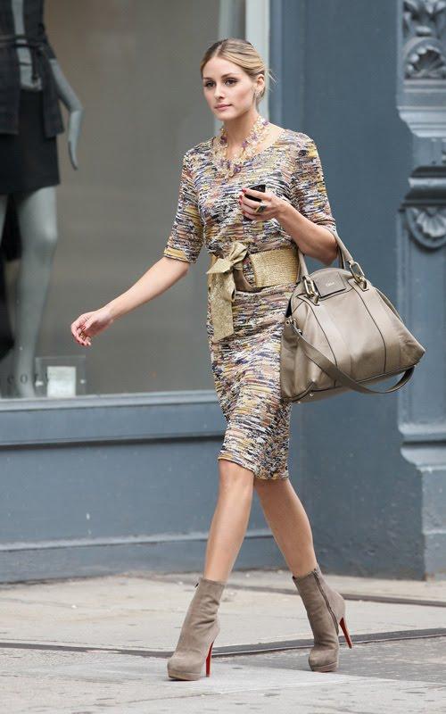 Olivia Palermo walking in New York.