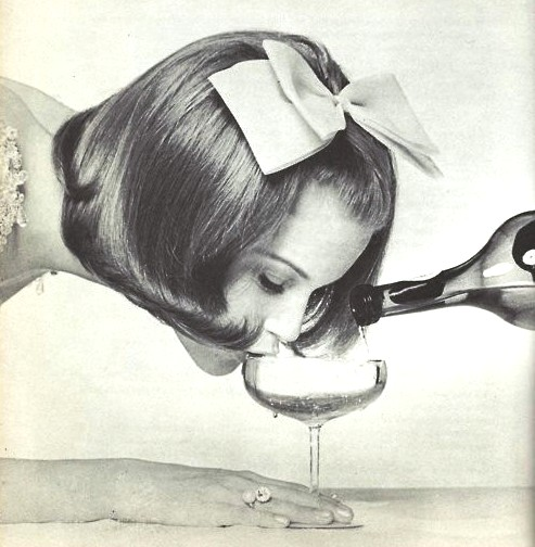 vintage-new-years-champagne-drinking